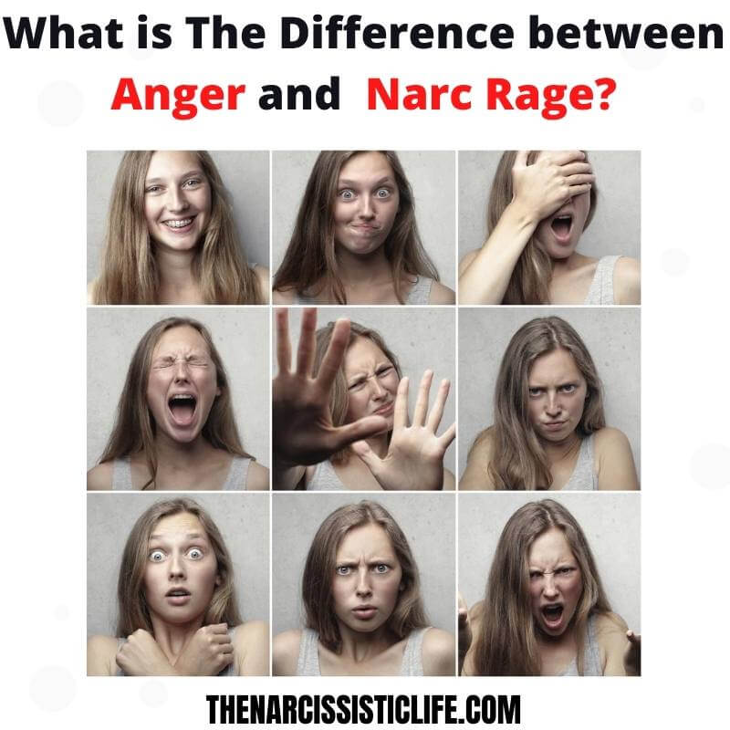 difference between anger and narcissistic rage