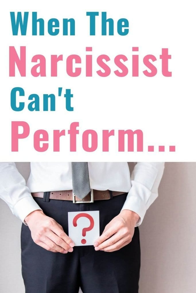 When the Narcissist cant perform. How important is sex for the Narcissist and why is there so much shame involved?