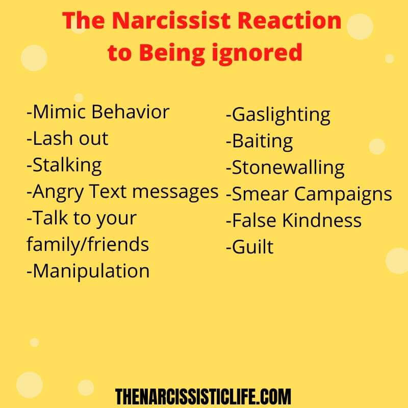 narcissist reaction to being ignored