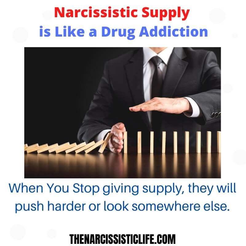 narcisssitic supply is like a drug addiction