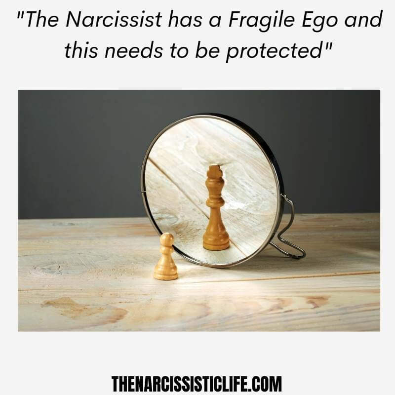 the narcissist has a fragile ego