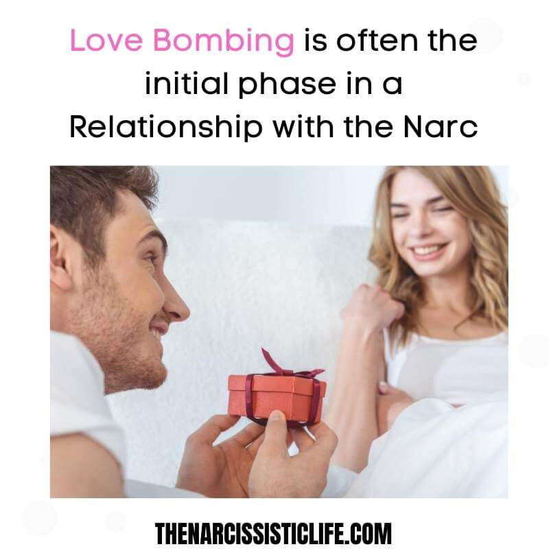 the narcissist love bombing