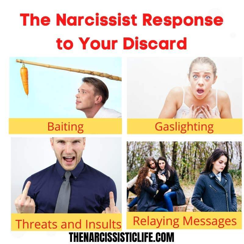 the narcissist response to your discard
