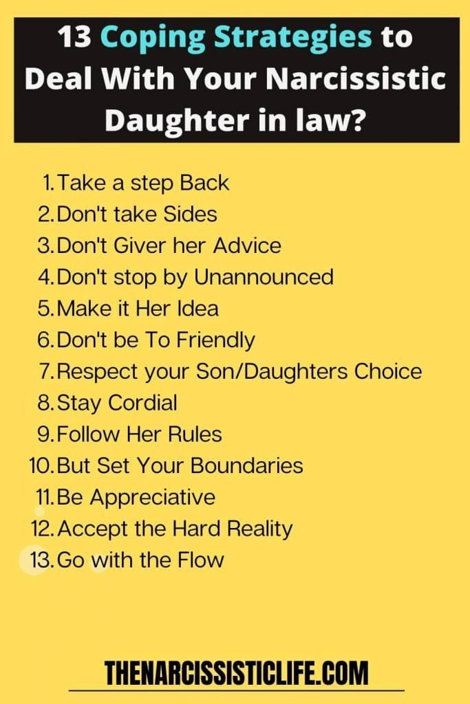 coping strategies to deal with narcissistic daughter in law