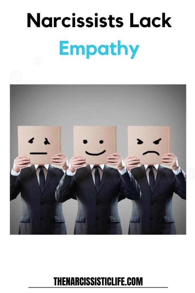 narcissists lack empathy