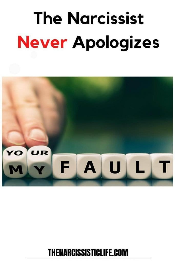 narcissists never truly apologize