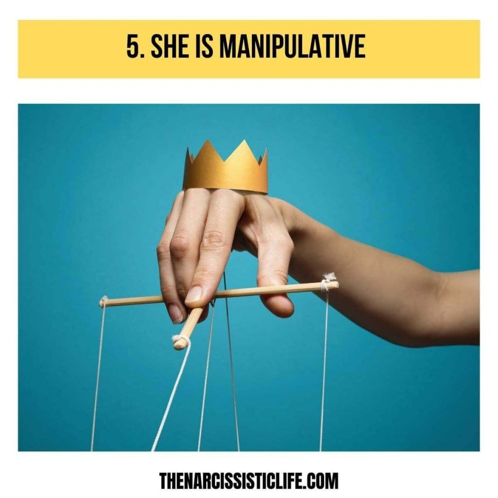 the narcissistic mother in law is manipulative