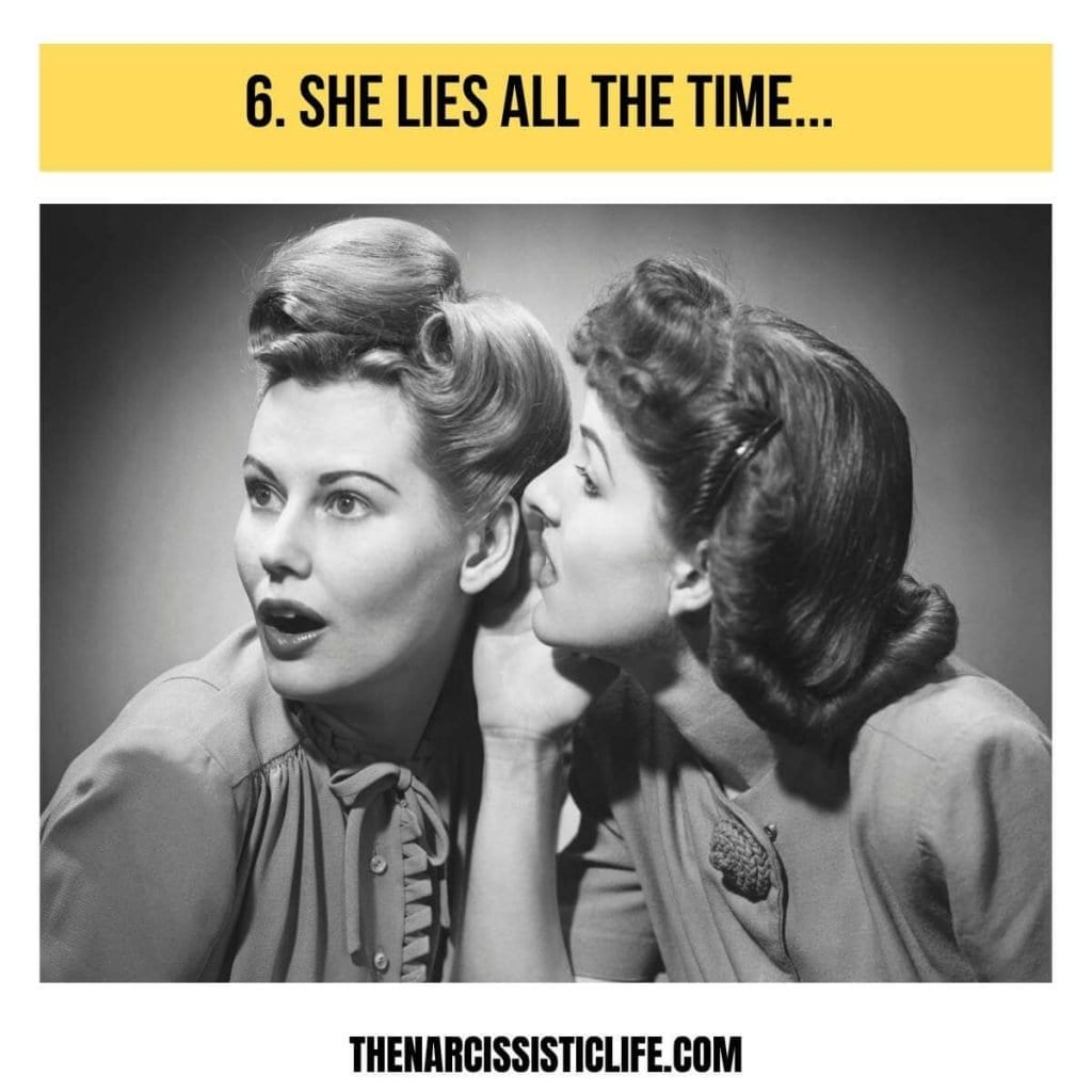 the narcissistic mother in law lies all the time