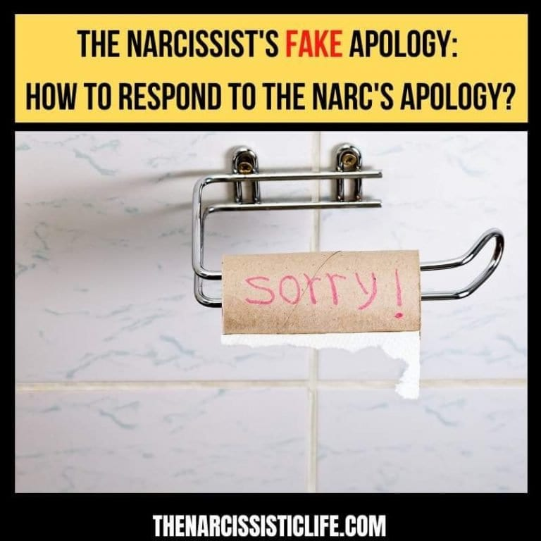 How To Respond To The Narcissist Fake Apology?