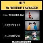 how to deal with a narcissistic brother