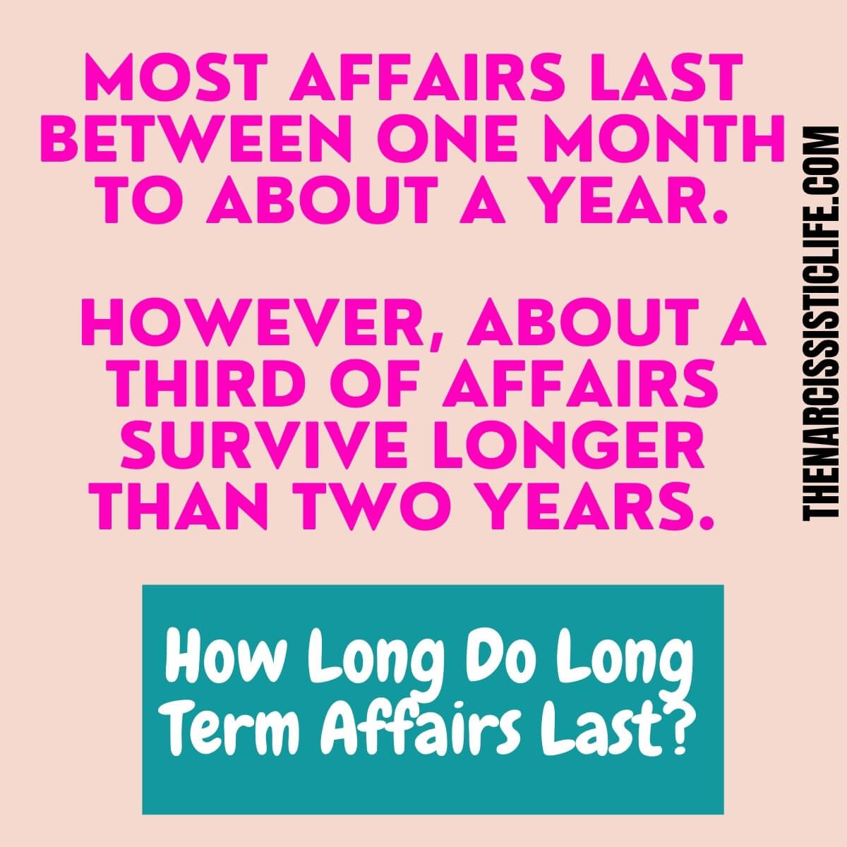 Why do married men have long term affairs