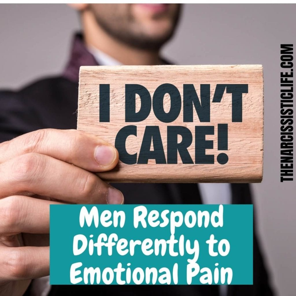 men respond differently to emotional pain