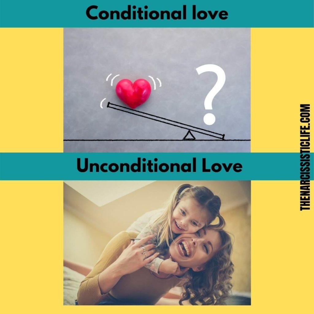 Unconditional Vs. Conditional Love