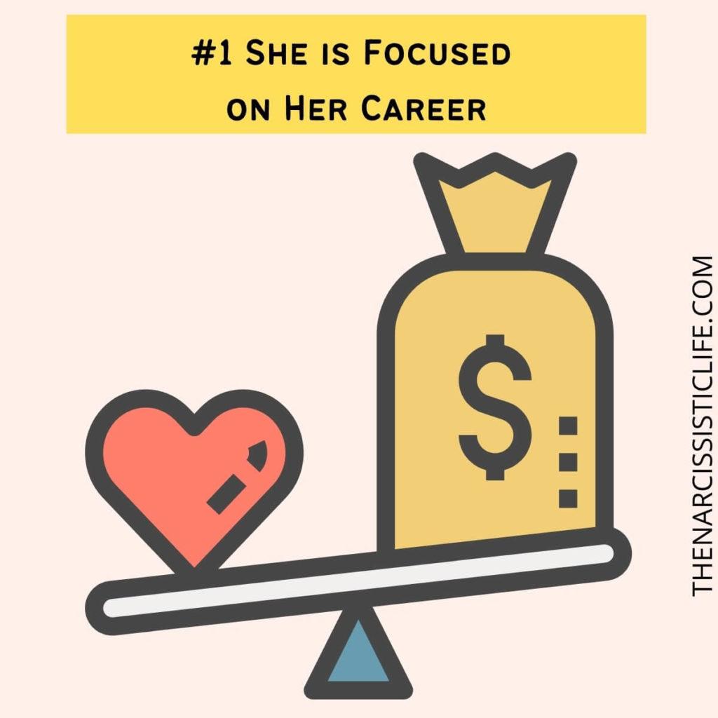 She is Focused on Her Career